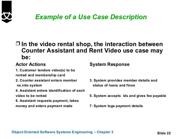 3 use cases 22 example of a use case description in the video rental shop ccuart Image collections
