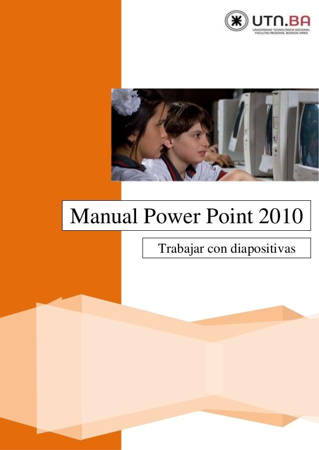 Manual Power Point 2010 Trabajar con diapositivas
