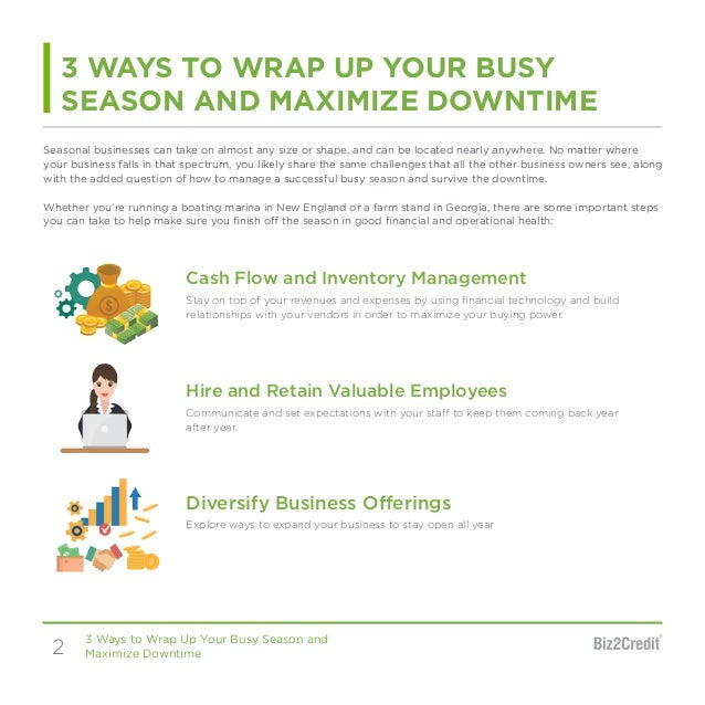 3 Ways to Wrap Up Your Busy Season & Maximize Downtime Slide 2