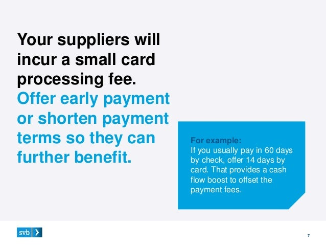 3 ways to sell your suppliers on credit card payments 6 1 shorter payment terms 7 colourmoves