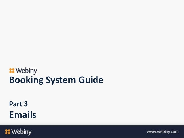 Booking System GuidePart 3Emails