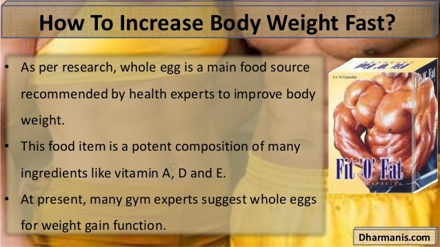 Healthy Foods To Increase Body Weight