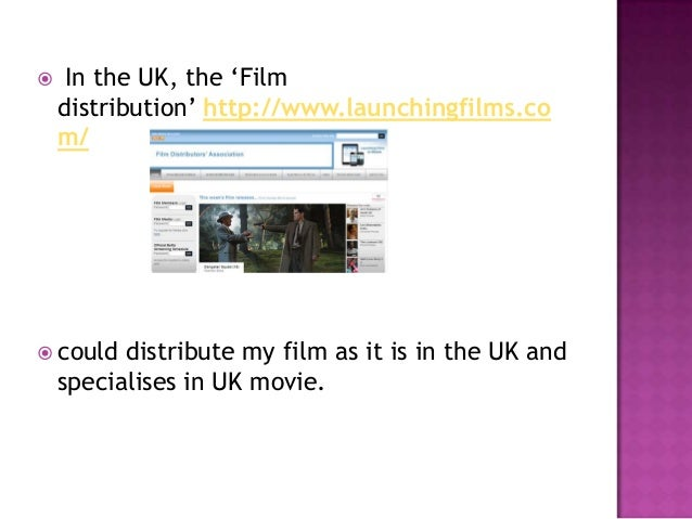  Filmdistribution is a British distributor of independent films in the UK and Ireland for various production companies; i...