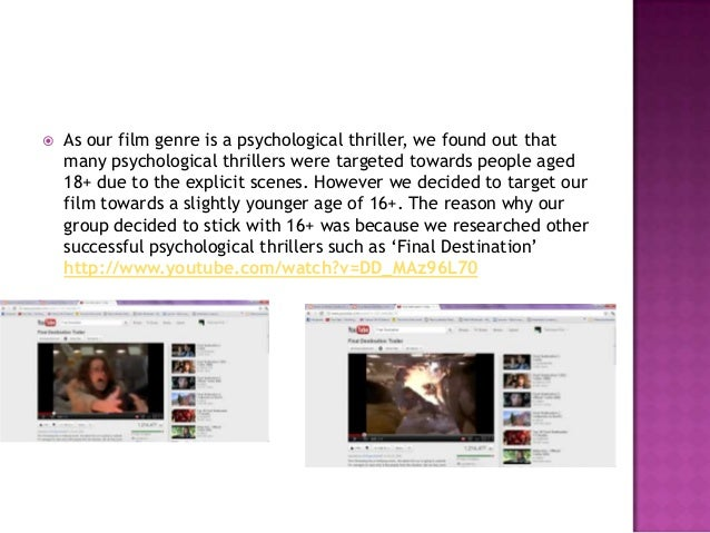    and 'Disturbing    Behaviour' http://www.youtube.com/watch?v=a9zfBcp6AxA    and realised that it attracted interesting...