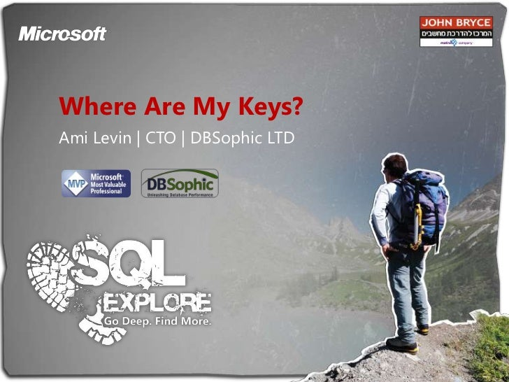 Where Are My Keys?<br />Ami Levin | CTO | DBSophic LTD<br />