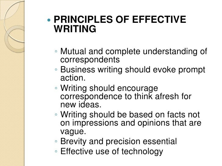 Four Basic Principles of Business Writing
