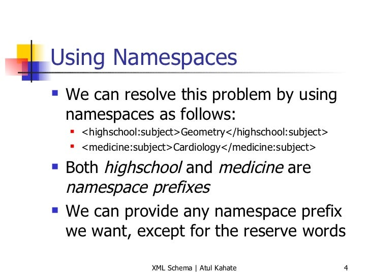 3 xml namespaces and xml schema