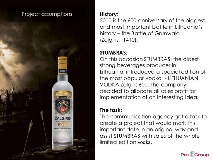 Project assumptions<br />History:<br />2010 is the 600 anniversary of the biggest and most important battle in Lithuania's...