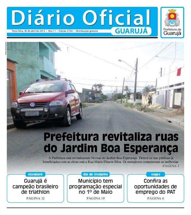 Guarujá écampeão brasileirode triathlonPágina 12standardConfira asoportunidades deemprego do PATPágina 6vagasMunicípio tem...