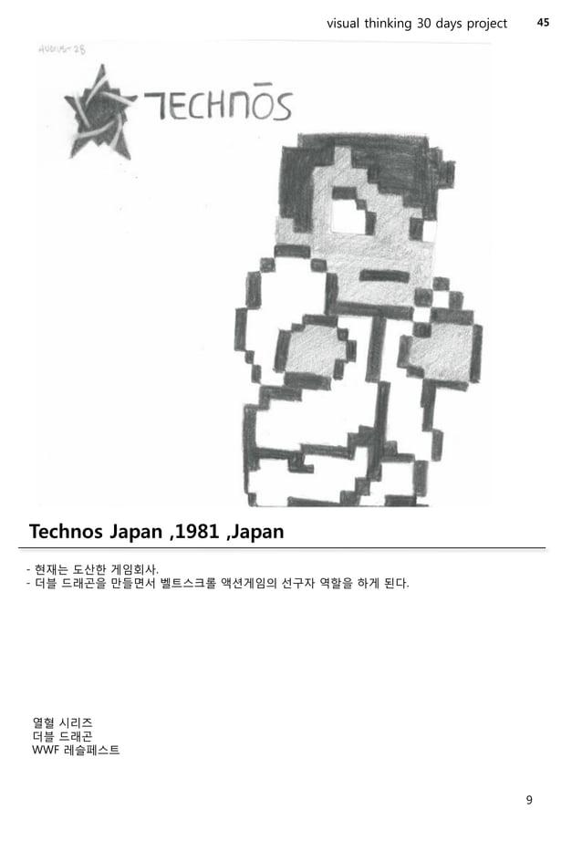 46  visual thinking 30 days project  HAL Laboratory ,1980 ,Japan  -닌텐도산하회사중하나.  -HAL이라는회사이름은2001스페이스오디세이에나오는HAL9000에서따온것이다...