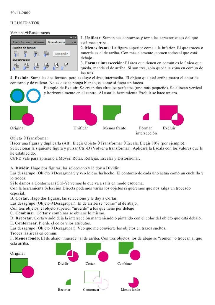 30-11-2009  ILLUSTRATOR  VentanaBuscatrazos                                         1. Unificar: Suman sus contornos y to...