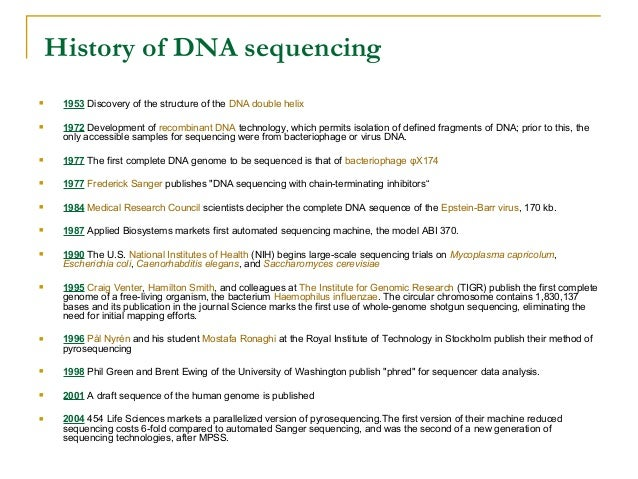 New Generation Sequencing Technologies: an overview Next Generation Sequencing Machine