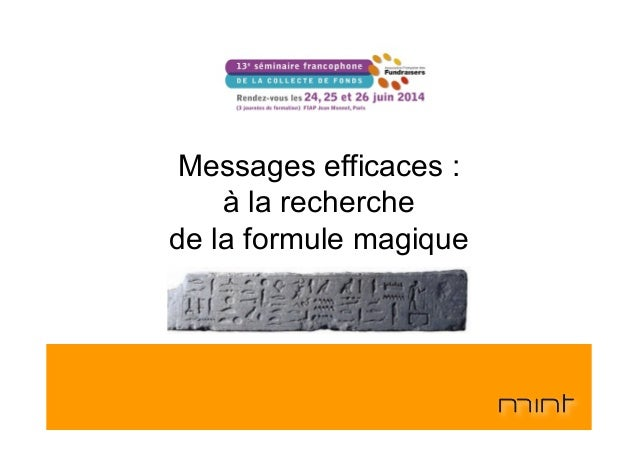 Messages efficaces : à la recherche de la formule magique