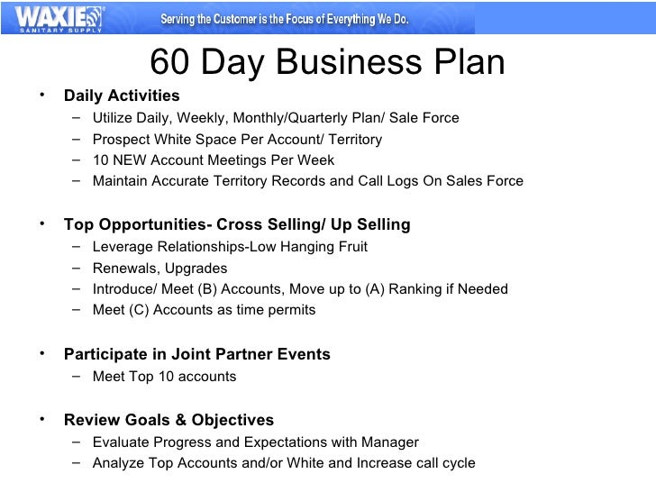30-60-90 day business plan for sales managers