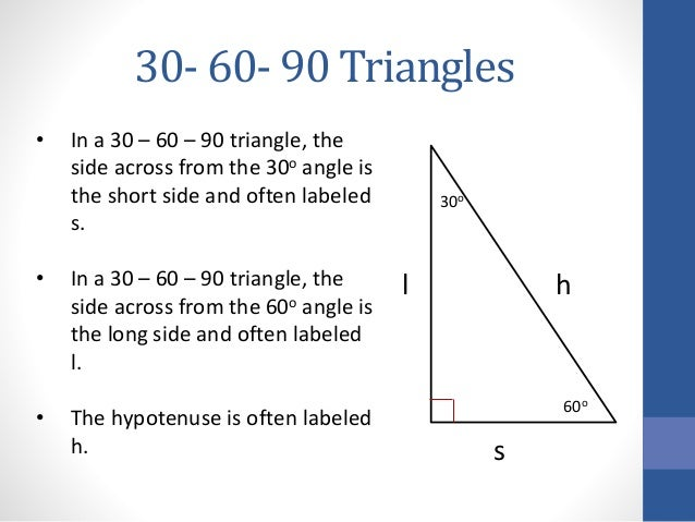 how to find sides of a 30 60 90 triangle