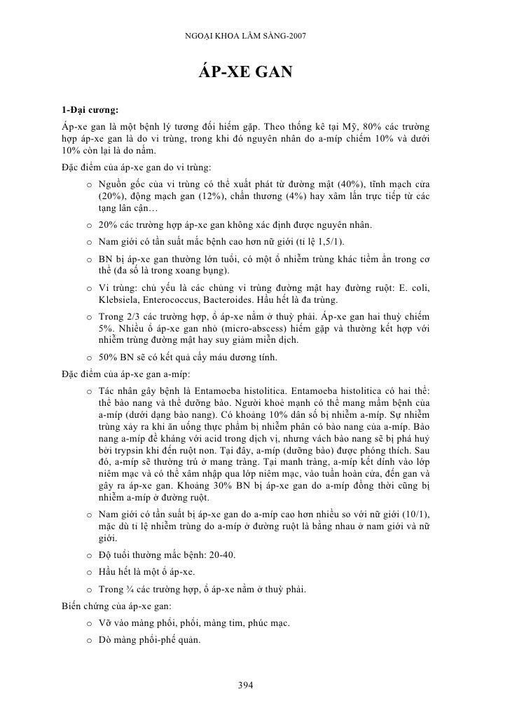 NGOẠI KHOA LÂM SÀNG-2007                                     ÁP-XE GAN  1-Đại cương: Áp-xe gan là một bệnh lý tương đối hi...