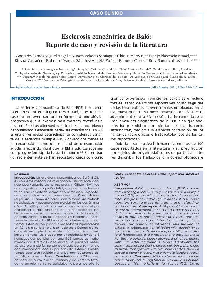 CASO CLÍNICO210                                                                                               Rev Mex Neur...
