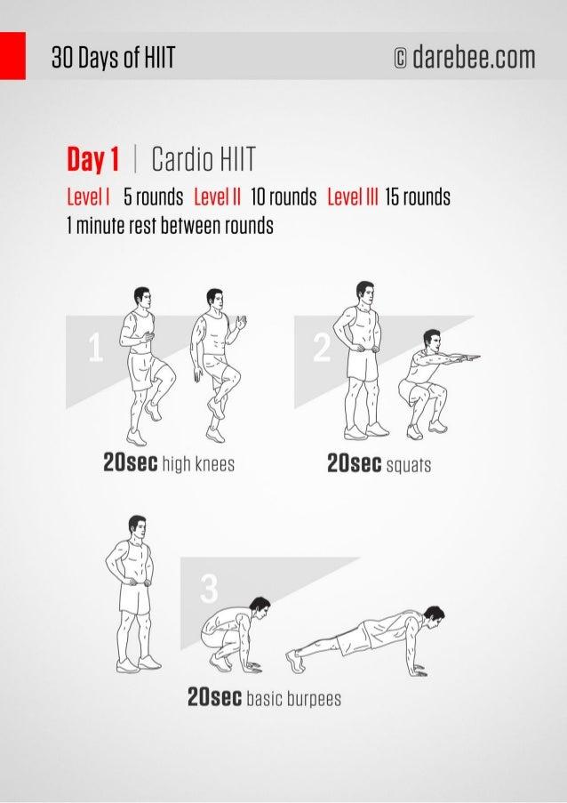 30 Days HIIT Workout Program Slide 2