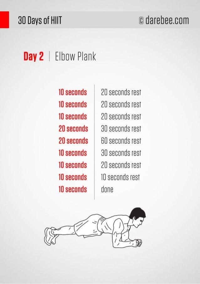 30 Days HIIT Workout Program Slide 3