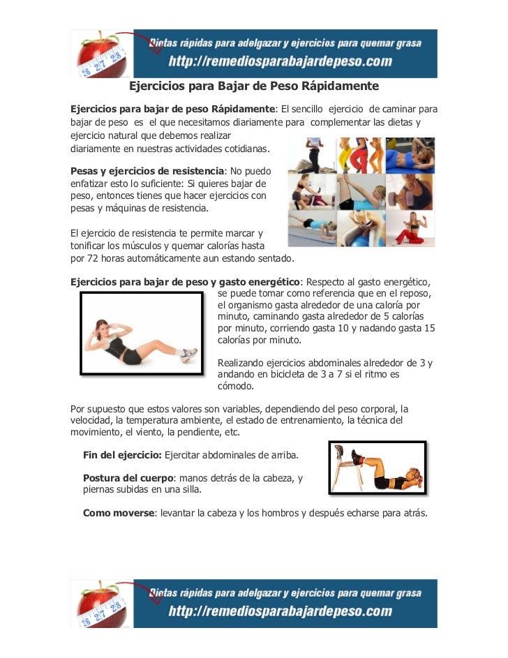 Ejercicios para Bajar de Peso RápidamenteEjercicios para bajar de peso Rápidamente: El sencillo ejercicio de caminar parab...