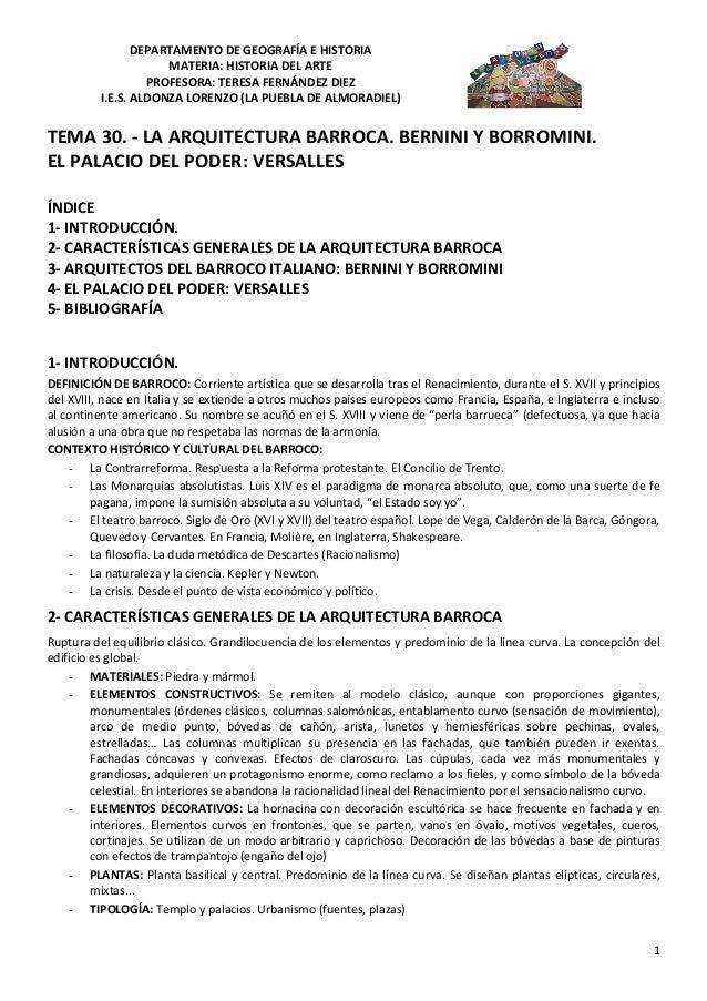 DEPARTAMENTO DE GEOGRAFÍA E HISTORIA                     MATERIA: HISTORIA DEL ARTE                  PROFESORA: TERESA FER...