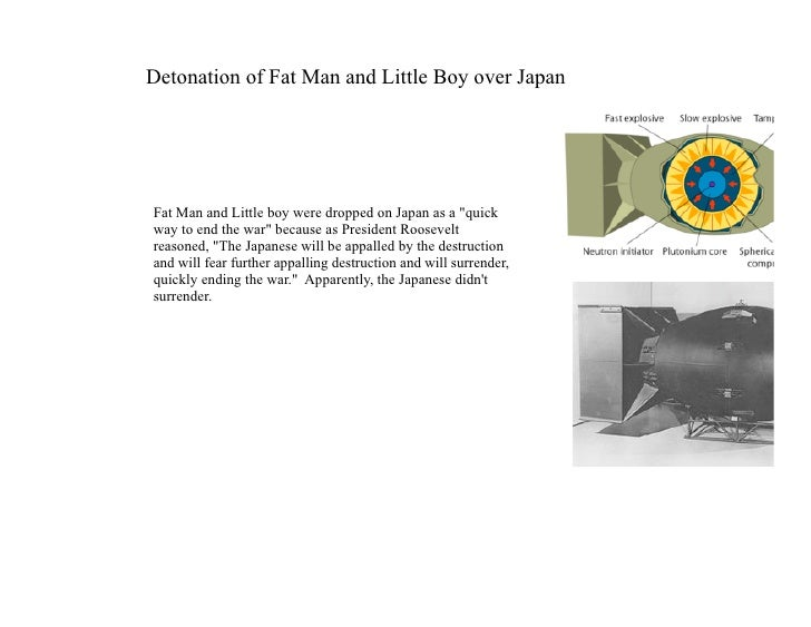 Detonation of Fat Man and Little Boy over Japan     Fat Man and Little boy were dropped on Japan as a quot;quick way to en...