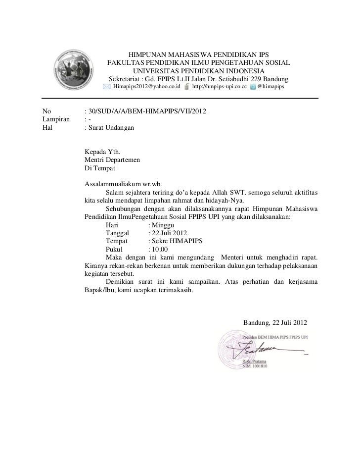 surat undangan rapat untuk osis   43 images   contoh