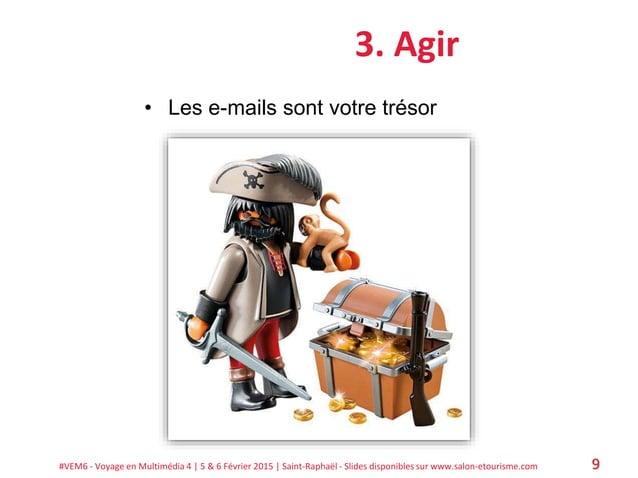#VEM6 - Voyage en Multimédia 4   5 & 6 Février 2015   Saint-Raphaël - Slides disponibles sur www.salon-etourisme.com 9 3. ...