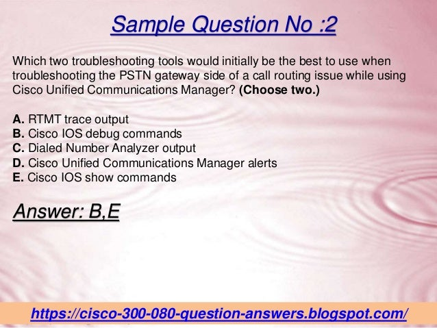 Free 300-080 Questions Answers - 300-080 Exam Dumps PDF Real