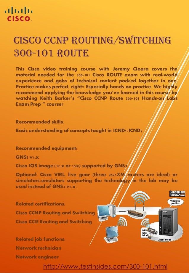 Cisco 300-101 ROUTE CCNP Braindumps
