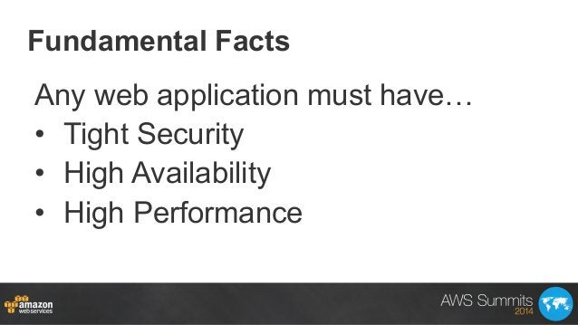 Fundamental Facts Any web application must have… • Tight Security • High Availability • High Performance