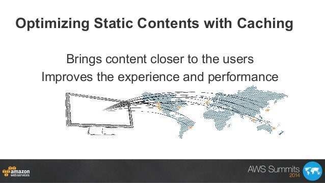 Optimizing Static Contents with Caching Brings content closer to the users Improves the experience and performance