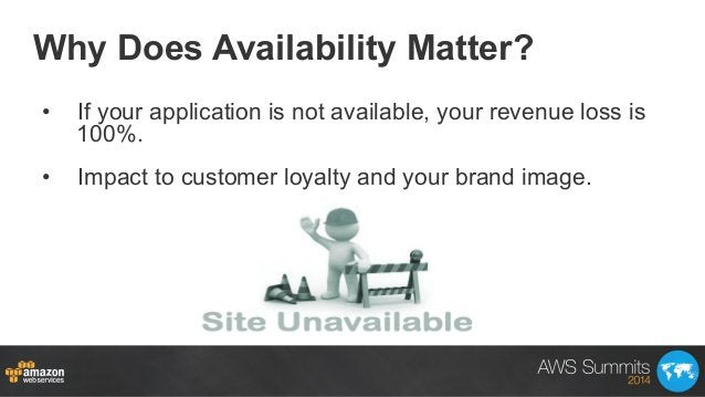 Why Does Availability Matter? • If your application is not available, your revenue loss is 100%. • Impact to customer lo...