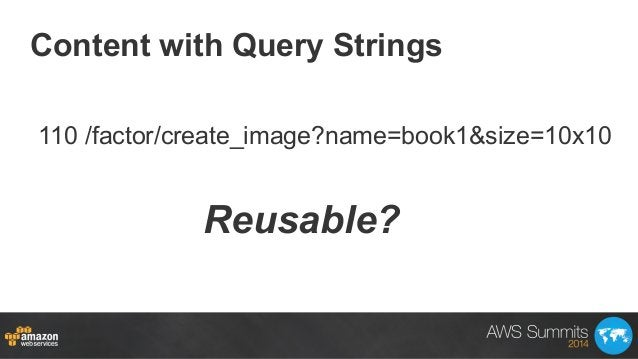 Content with Query Strings Reusable? 110 /factor/create_image?name=book1&size=10x10