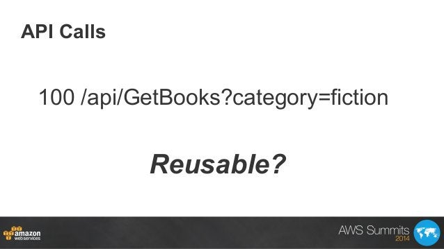 API Calls Reusable? 100 /api/GetBooks?category=fiction