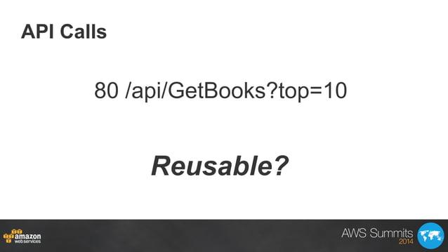 API Calls Reusable? 80 /api/GetBooks?top=10