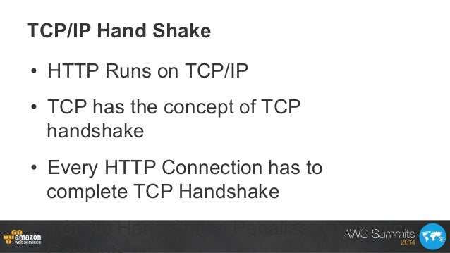 TCP/IP Hand Shake • HTTP Runs on TCP/IP • TCP has the concept of TCP handshake • Every HTTP Connection has to complete ...