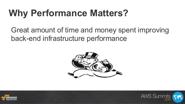 Why Performance Matters? Great amount of time and money spent improving back-end infrastructure performance