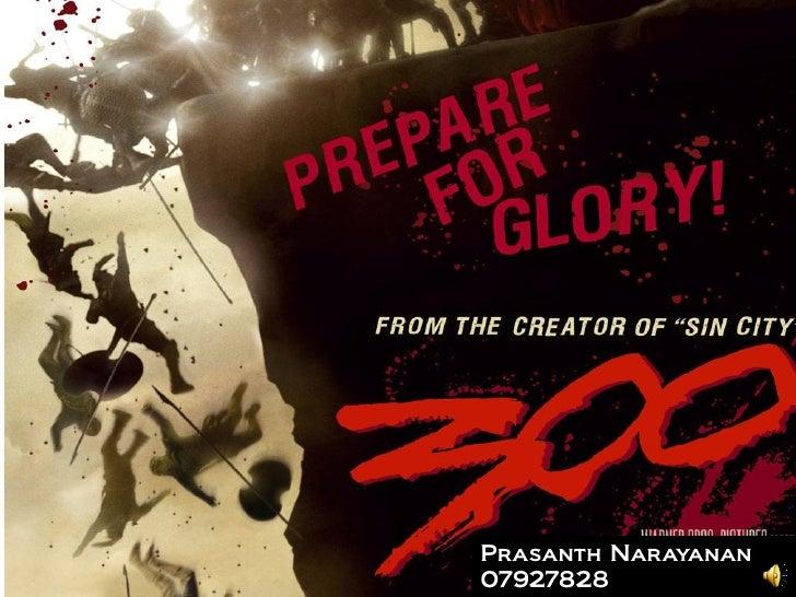 Prasanth Narayanan 07927828