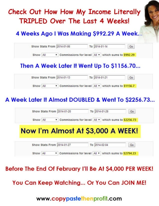 How My Income Literally TRIPLED To Almost $3000 PER WEEK In The Last 30 Days!