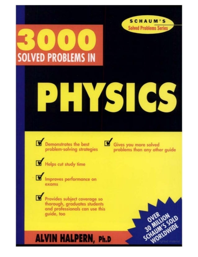 solved problems in physics