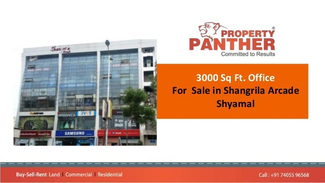 3000 Sq Ft. Office For Sale in Shangrila Arcade Shyamal