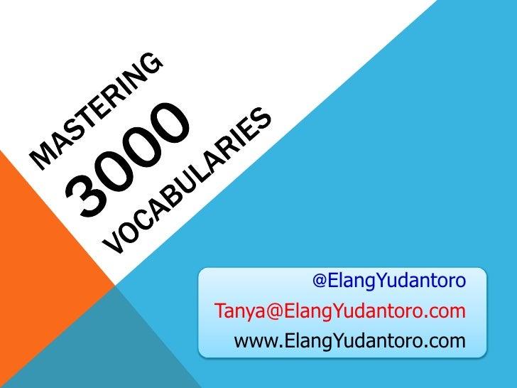 @ElangYudantoroTanya@ElangYudantoro.com  www.ElangYudantoro.com
