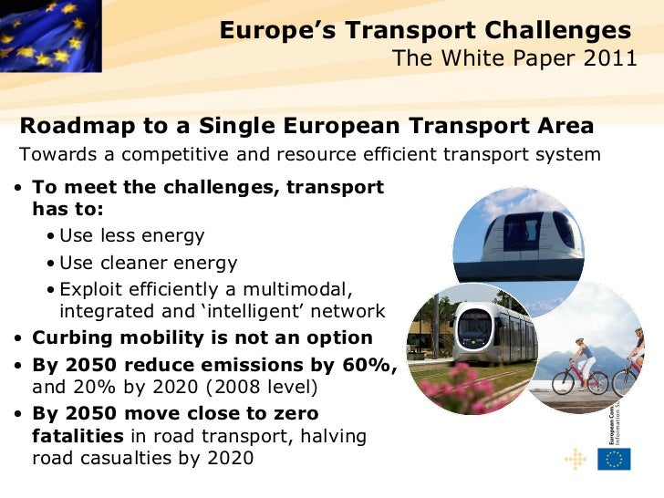 Europe's Transport Challenges                                        The White Paper 2011Roadmap to a Single European Tran...