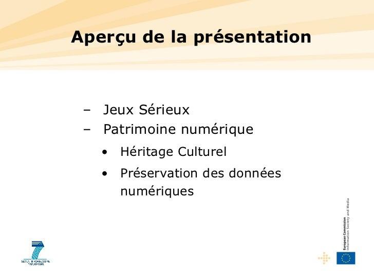 Europe 2014-2020: patrimoine & serious games (jeux sérieux) Slide 2
