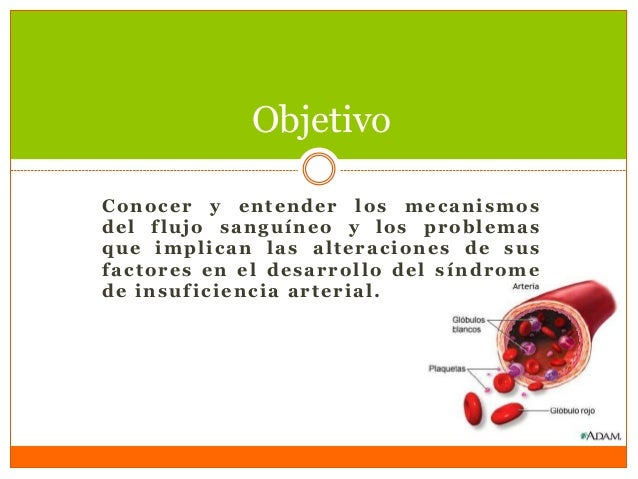 Conocer y entender los mecanismos del flujo sanguíneo y los problemas que implican las alteraciones de sus factores en el ...