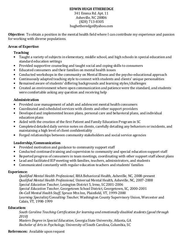Hugh Etheredge Newest resume