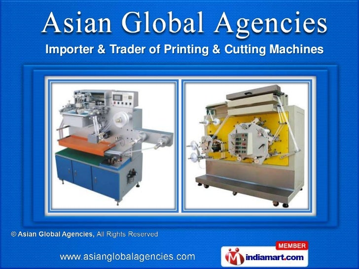 Importer & Trader of Printing & Cutting Machines