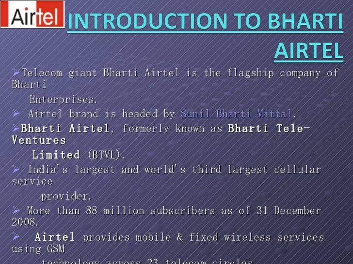 research paper on airtel 30069090 bharati-airtel-marketing-research-paper-ppt 1 advertising strategy of bharati televetures ltd presented by: ankit yadav pgdmf0908 pgdm(m.