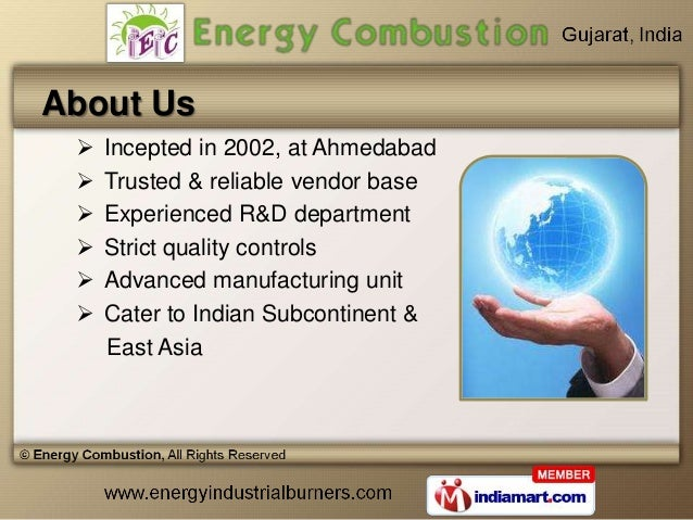 Combustion Equipment by Energy Combustion, Ahmedabad  Slide 2